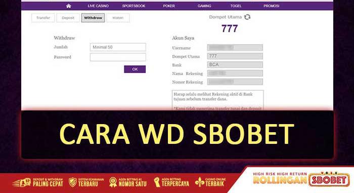 cara withdraw di agen resmi sbobet